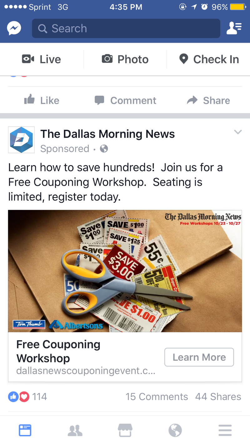 Dallas morning newspaper coupons