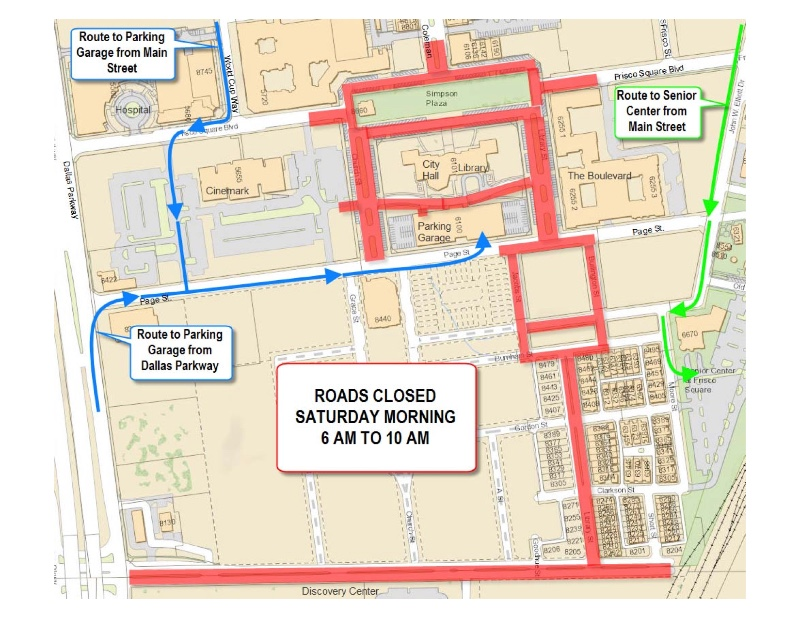 Frisco Street Closures For 5K Race